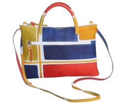 Handbag - Art. Acquerello Blu Geometrico