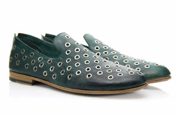 Green Loafers Shoes - Art. V370