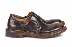Dark Brown Monk Stripes Shoes - Art. 102