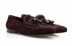 Dark Purple Loafers Shoes - Art. V315