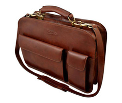 Art. Professional leather Briefcase with Sshoulder Strap