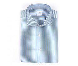 Shirt - Art. White and light blue striped shirt