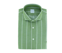 Shirt - Art. Green Polo Shirt with White Stripes