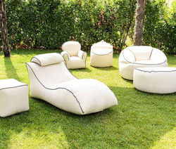 Outdoor Collection - Padded Poufs and Chairs
