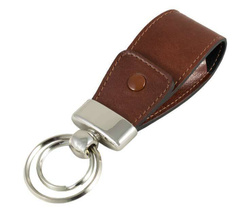Art. Leather USB Key Chain With Button