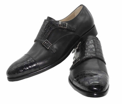 Black Monk Stripes Shoes - Art. G13