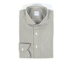 Shirt - Art. White and green striped shirt