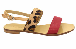 Spotted/Pink Sandals Shoes - Art. Genny