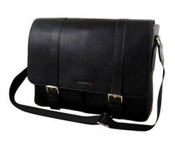 Art. Large Messenger Bag With Leather Flap