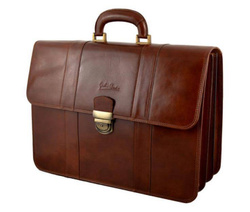 Art. Professional Leather Briefcase 3 Bellows
