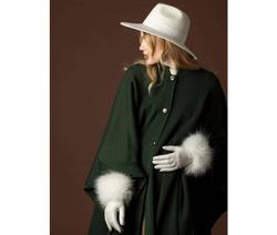 Art. White Fedora Hat & Gloves