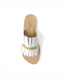 Sandals - Art. Marty frange Bianco